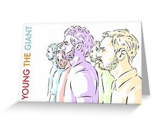 Young the Giant Doodle (Color) Greeting Card