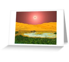 Billabong At Dusk Greeting Card