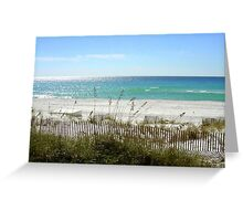 Beach On a Cool Morning Greeting Card
