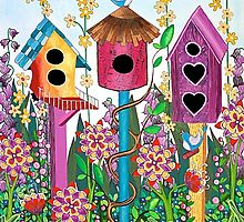 Summer Garden by Lisa Frances Judd~QuirkyHappyArt