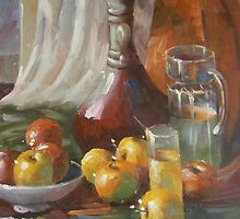 Cider Apples Vintage Still Life Study by Meaghan Louise
