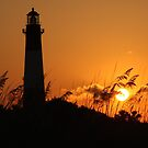 Tybee Island Lighthouse at Sunset by Kent Nickell