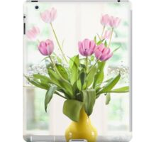 Pink Tulips In The Window iPad Case/Skin