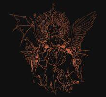 Demon Mephistopheles (linework) by Erica Wester