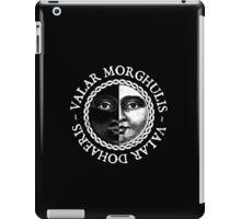 Valar Morghulis, Valar Dohaeris (White) iPad Case/Skin