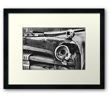 'Broken' black and white Framed Print