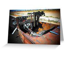 "Rat Rod Roadster "" Unexpected Surprise "" Greeting Card"