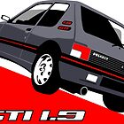 Peugeot 205 GTI 1.9 grey by car2oonz