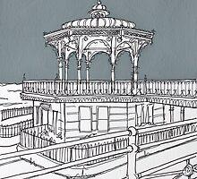 Brighton Bandstand by Adam Regester