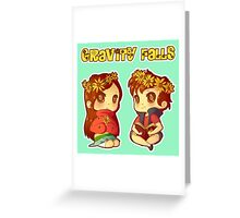 Flower Power Pines Twins Greeting Card