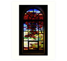 A Tale of Windows and Magical Landscapes - 1 Art Print