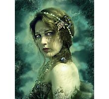 Mermaid Behind Her Mask Photographic Print