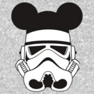 Storm trooper with Mickey ears by sweetsisters