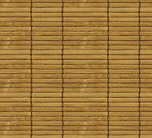 Japanese Tatami Mat, Bamboo Planks - Brown  by sitnica