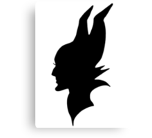 Black Maleficent Silhouette Canvas Print