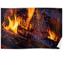 Wood Fire Poster