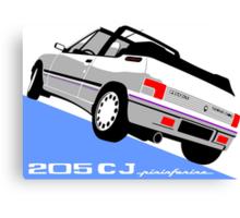 Peugeot 205 CJ cabriolet white Canvas Print