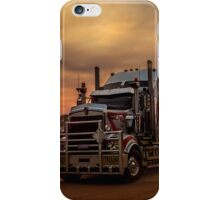 Prime Mover Kenworth truck at Sunset iPhone Case/Skin