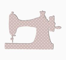 Sewing Machine, Polka Dots (Spots) - Pink White Kids Clothes