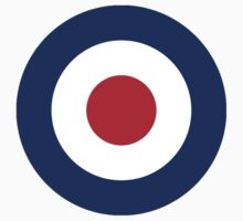 Bulls eye, Red White Blue roundel  by TOM HILL - Designer