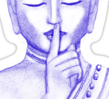 Shh ... do not disturb - Buddha  Sticker
