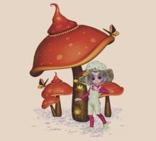 Fairy with magical mushroom, tee shirt by LoneAngel