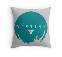 Destiny - Green Water Logo by AronGilli Throw Pillow