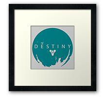Destiny - Green Water Logo by AronGilli Framed Print