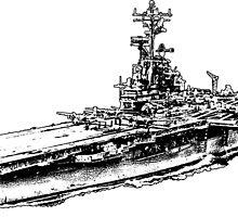 USS Hornet (CV-12) by deathdagger