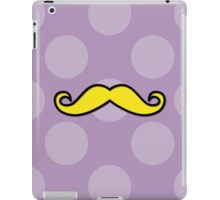Moustache, Polka Dots - Black Purple Yellow iPad Case/Skin