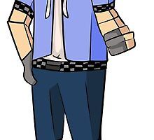 Minecraft boy with his hand up by AngelsDead