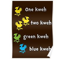 One Kweh Two Kweh Green Kweh Blue Kweh Poster