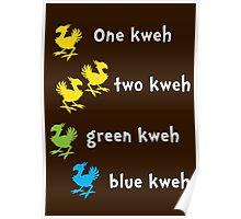 One Kweh Two Kweh Green Kweh Blue Kweh Poster