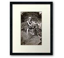 Brough Superior motorcycle - 1930s Framed Print