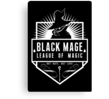 League of Magic: Black Canvas Print