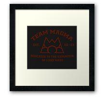 Team Magma Framed Print