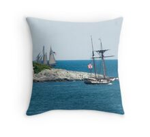 Around the Point and Out to Sea Throw Pillow