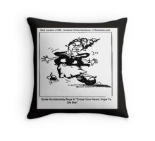 Cross Your Heart Hope To Die Bra Throw Pillow
