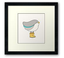 bird in boots Framed Print
