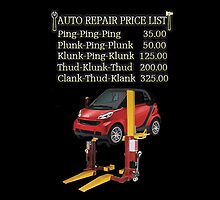 ☝ ☞ $ AUTO CAR REPAIR PRICE LIST THROW PILLOW $☝ ☞ by ╰⊰✿ℒᵒᶹᵉ Bonita✿⊱╮ Lalonde✿⊱╮