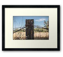 Old Fence Post Framed Print