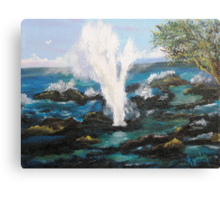 Spouting Horn....Up Close &Personal Canvas Print