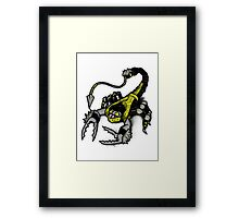 Realer Scorpion Framed Print