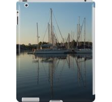 Reflecting on Yachts - Hot Summer Afternoon Mirror iPad Case/Skin
