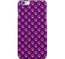 Dog Paws, Traces, Paw-prints - Purple iPhone Case/Skin