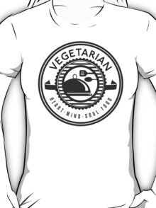 Vegetarian Heart Mind and Soul Food T-Shirt
