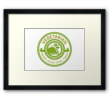 Vegetarian Heart Mind and Soul Food Framed Print