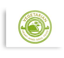 Vegetarian Heart Mind and Soul Food Metal Print