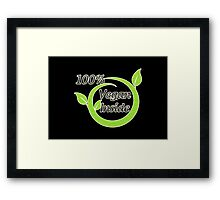 100% Vegan Inside Framed Print