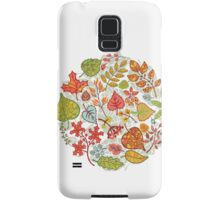 Circle composition with Autumn leaves,branches,berries Samsung Galaxy Case/Skin